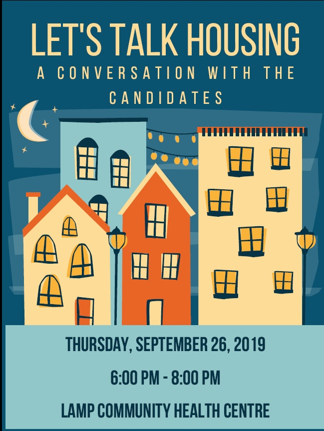 Let's talk housing a conversation with the candidates thursday september 26, 2019 6-8 pm